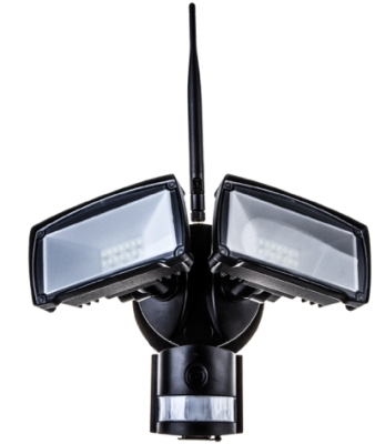 V-Tac 18w LED Twin PIR Floodlight With Wifi Camera Daylight (Black Finish)