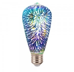 V-Tac 3W Non-Dimmable E27 ST64 Decorative Filament LED 3D Bulb Warm White