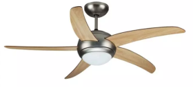 """V-Tac 52"""" Ceiling Fan with Wooden Blades and Remote Control"""