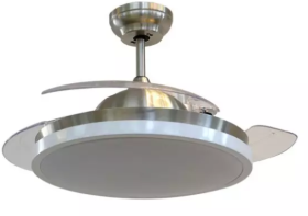 """V-Tac 52"""" Silver Ceiling Fan with Remote Control"""