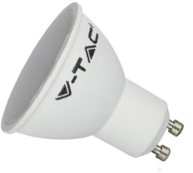 V-Tac 5W Dimmable Smart LED GU10 Bulb with Frosted Finish RGB + CCT