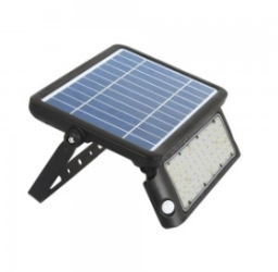 V-Tac 5W IP65 Solar LED Floodlight 500Lm with PIR Sensor 4000K Cool White (2 Year Warranty)