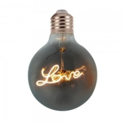 V-Tac 5W Non-Dimmable E27 G125 Decorative Filament LED Love Amber Globe Bulb Very Warm White (30W Eq