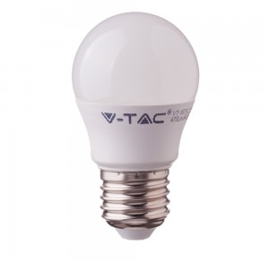 V-Tac 7W E27 LED Plastic Golfball Bulb with Samsung Chip Cool White (45W Equivalent)