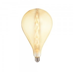 V-Tac 8W Dimmable E27 G165 Decorative Filament LED Amber Bulb Very Warm White