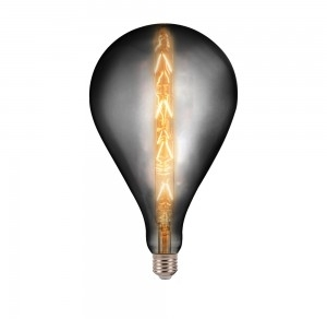 V-Tac 8W Dimmable E27 G165 Decorative Filament LED Smokey Bulb Very Warm White
