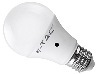 V-Tac 9W A60 Cool White LED Sensor Bulb