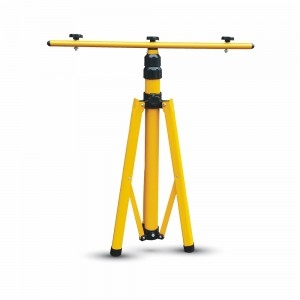 V-Tac Extendable Yellow Aluminium Tripod Stand for 10w to 50w Floodlights (940-1800mm)