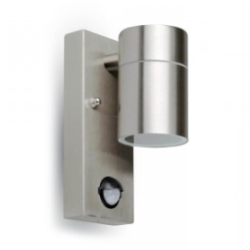 V-Tac IP44 Rated GU10 Stainless Steel Wall Fitting with PIR Sensor