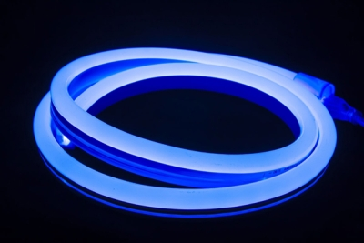 V-Tac IP65 9mmx16.5mm 8W Blue 10 Metre LED Neon Flex (6 Mounting Brackets Included)