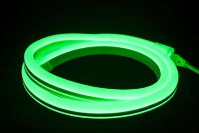 V-Tac IP65 9mmx16.5mm 8W Green 10 Metre LED Neon Flex (6 Mounting Brackets Included)