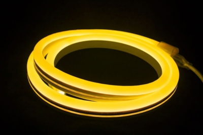 V-Tac IP65 9mmx16.5mm 8W Yellow 10 Metre LED Neon Flex (6 Mounting Brackets Included)