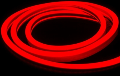 V-Tac IP65 (Indoor & Outdoor Use) 10m LED Neon Flex Red (Complete Kit inc. Driver) 8 Watts per Metre