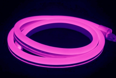 V-Tac IP65 (Indoor & Outdoor Use) 10m LED Neon Flex Violet (Complete Kit inc. Driver) 8 Watts per Me