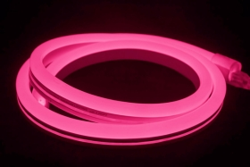 V-Tac IP65 (Indoor & Outdoor Use) 5m LED Neon Flex Pink (Complete Kit inc. Driver) 8 Watts per M