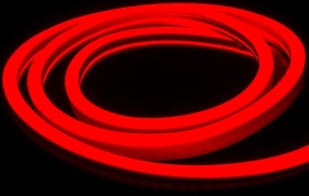 V-Tac IP65 (Indoor & Outdoor Use) 5m LED Neon Flex Red (Complete Kit inc. Driver) 8 Watts per Me