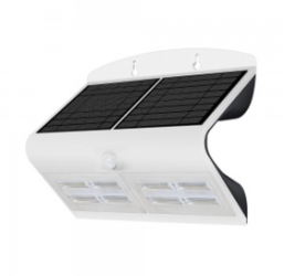 V-Tac IP65 Solar LED PIR Wall Light 7w Cool White