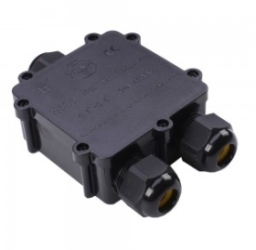 V-Tac IP68 Black Water Proof Terminal Block for Cable Diameter 8-12mm