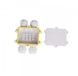 V-Tac IP68 White 4 Pin Water Proof Terminal Block for Cable Diameter 8-12mm