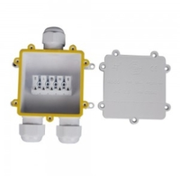 V-Tac IP68 White Water Proof Terminal Block for Cable Diameter 8-12mm