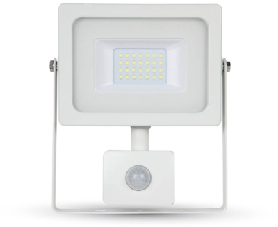 V-Tac LED PIR Floodlight 20 Watt 4500K Cool White (160W Alternative) White