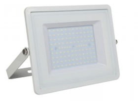 V-Tac Slimline LED Floodlight 100w Warm White (800 Watt Alternative - White Finished)
