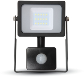 V-Tac Slimline LED Floodlight 10W Daylight with PIR Sensor (50W Alternative)