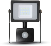 V-Tac Slimline LED Floodlight 10W Warm White with PIR Sensor (50W Alternative)