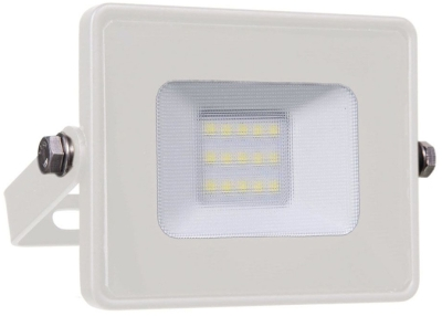 V-Tac Slimline LED Floodlight 10w Daylight (80 Watt Alternative - White Finished)
