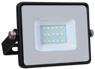 V-Tac Slimline LED Floodlight 10w Warm White (80 Watt Alternative - 40cm Cable)