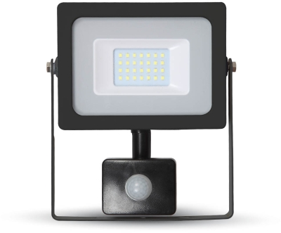 V-Tac Slimline LED Floodlight 20W Daylight with PIR Sensor (100W Alternative)