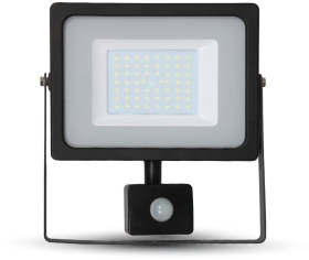 V-Tac Slimline LED Floodlight 50W Daylight with PIR Sensor (250W Alternative)