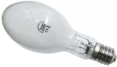 This is a 150W 26-27mm ES/E27 Eliptical bulb that produces a Cool White (840) light which can be used in domestic and commercial applications
