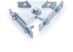 Wall Mounted Zinc Plated Twin Swivel Bracket for 2 Small LED Floodlights (Up to 2kg Each)
