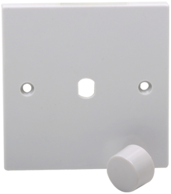 White Finished 1G Plate With Dimmer Knob (For Use With Dimmer Module)