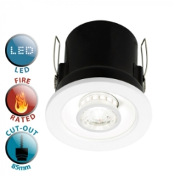 White (White/White) Fire Rated Tri-Tone Downlight (5W+2W)