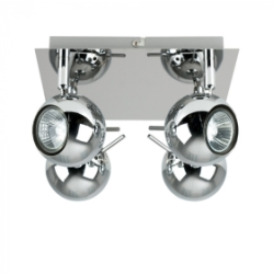 Zyklo 4 Way Square Plate Spotlight Silver
