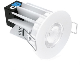 This is a 10 W bulb that produces a Warm White (830) light which can be used in domestic and commercial applications