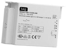 This is a ballast designed to run 70 W lamps which is part of our control gear range produced by BAG Electronics
