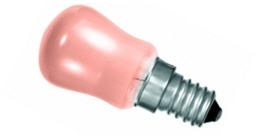 This is a 15 W 14mm SES/E14 Pygmy bulb that produces a Pink light which can be used in domestic and commercial applications