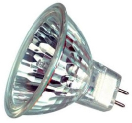 This is a 50 W GX5.3/GU5.3 Reflector/Spotlight bulb that produces a Warm White (830) light which can be used in domestic and commercial applications