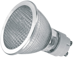 This is a 35W GX10 Reflector/Spotlight bulb that produces a Very Warm White (827) light which can be used in domestic and commercial applications
