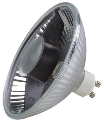 This is a 70W GX10 Reflector/Spotlight bulb that produces a Very Warm White (827) light which can be used in domestic and commercial applications