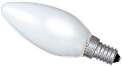 This is a 60W 14mm SES/E14 Candle bulb that produces a Pearl light which can be used in domestic and commercial applications