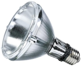 This is a 35 W 26-27mm ES/E27 Reflector/Spotlight bulb that produces a Warm White (830) light which can be used in domestic and commercial applications