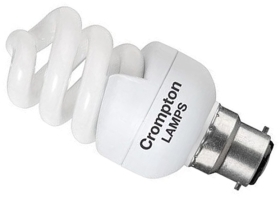 This is a 11 W 22mm Ba22d/BC Spiral bulb that produces a Very Warm White (827) light which can be used in domestic and commercial applications