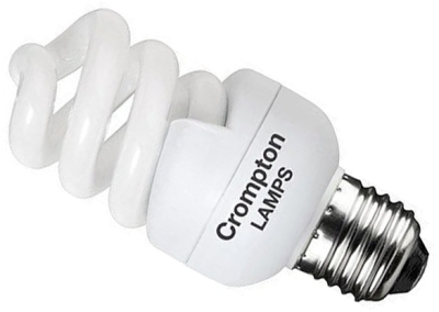 This is a 11 W 26-27mm ES/E27 Spiral bulb that produces a Very Warm White (827) light which can be used in domestic and commercial applications
