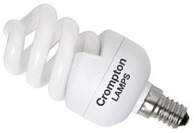 This is a 11 W 14mm SES/E14 Spiral bulb that produces a Very Warm White (827) light which can be used in domestic and commercial applications
