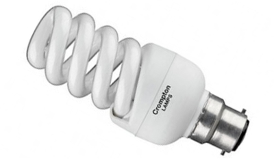 This is a 15 W 22mm Ba22d/BC Spiral bulb that produces a Very Warm White (827) light which can be used in domestic and commercial applications