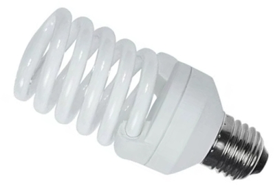This is a 23 W 26-27mm ES/E27 Spiral bulb that produces a Very Warm White (827) light which can be used in domestic and commercial applications